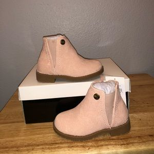 Nicole Miller Faux Suede Ankle Bootie Toddler
